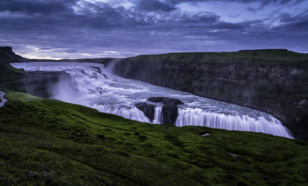 Gulfoss Under The Midnight Sun
