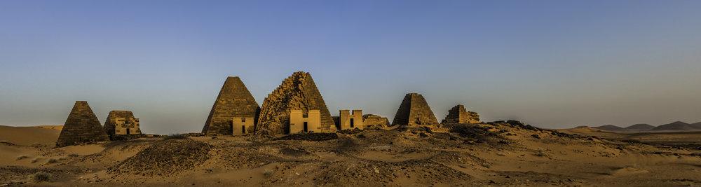 Southern Pyramids Of Meroe