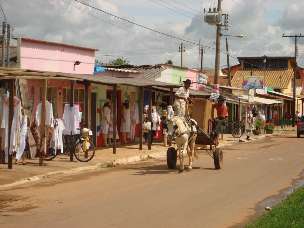 """Main Street"" in Abadiania"