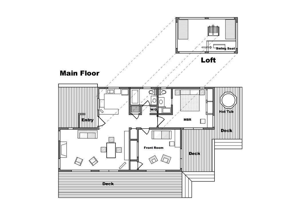 "2015 -- floor plan of ""Casa Pacis"" (garage annex not shown)"