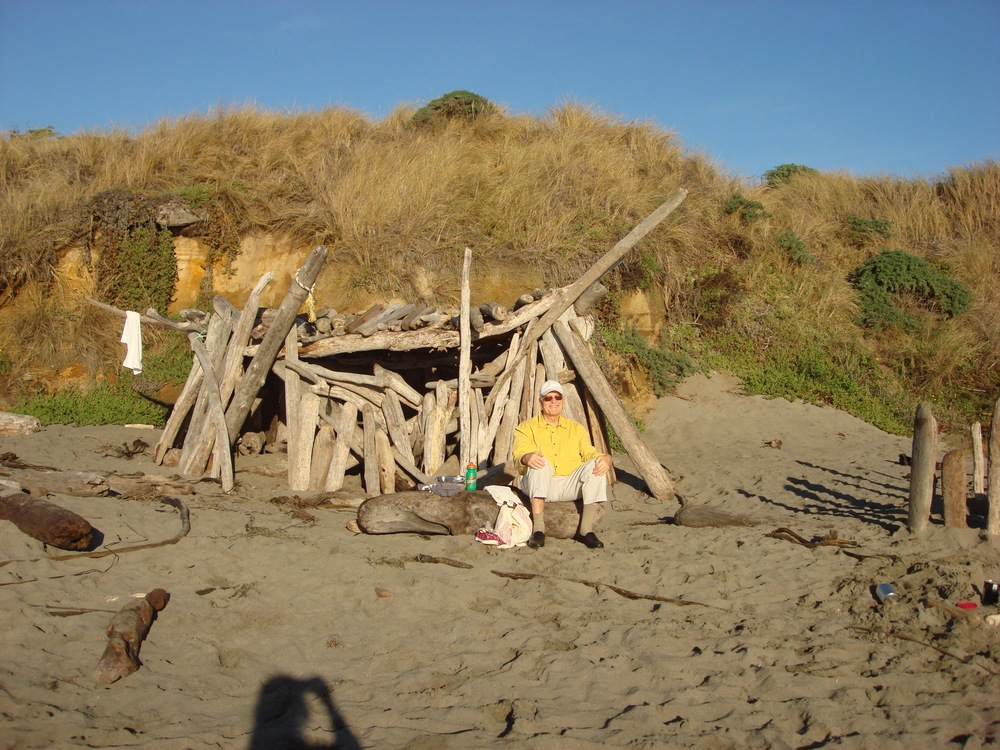 "..... or enjoy the evening sun in front of a ""driftwood castle"" your (or someone else's) grandkids built on the beach in front of Casa Pacis."