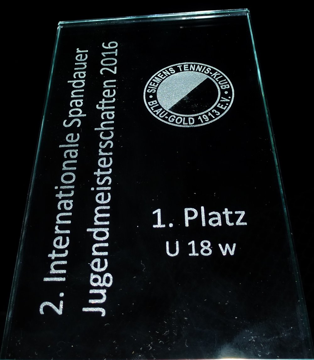 Pokal 2. Internationale Spandauer Jugendmeisterschaften 2016