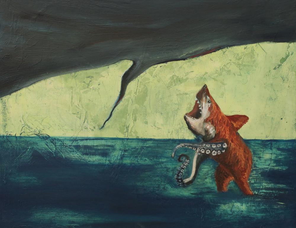 Beast; 2011; oil on panel