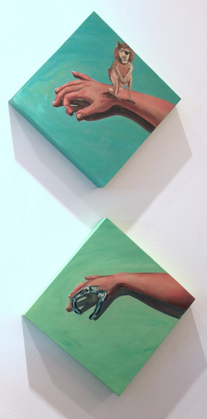 Patch (diptych); 2011; oil on panel