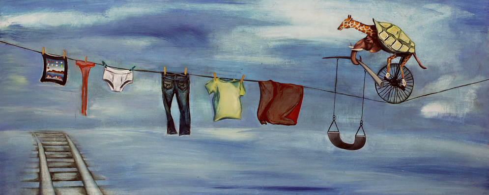 Laundry; 2011; oil on panel