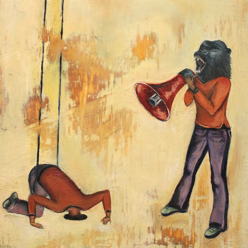 Bullhorn; 2011; oil on panel