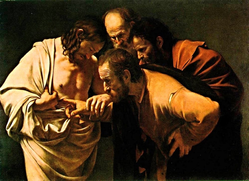 After The Resurrection series—Caravaggio, Doubting Thomas.jpg