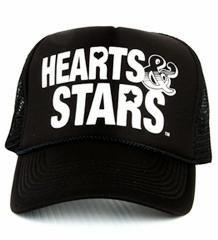 High quality trucker hat printed with the original Hearts & Stars logo.  A little piece of history! Available in several stylin' color selections.