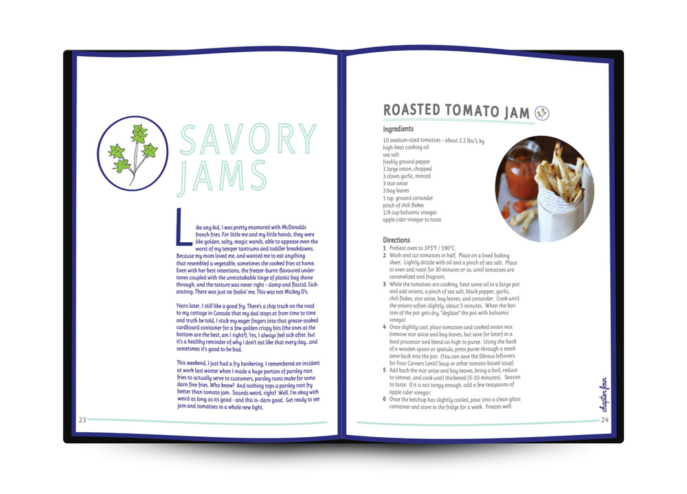 Smash and Bramble Cookbook Page Layout