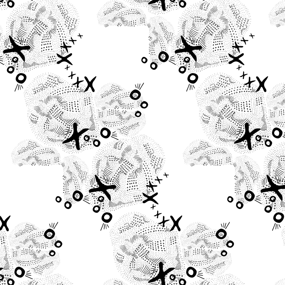 Black and White XO Blob Surface Design Pattern.png
