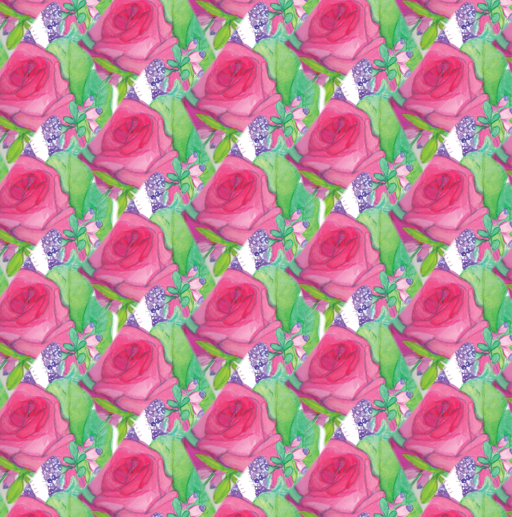 Watercolor Flower Wrapping Paper_Surface Design.png