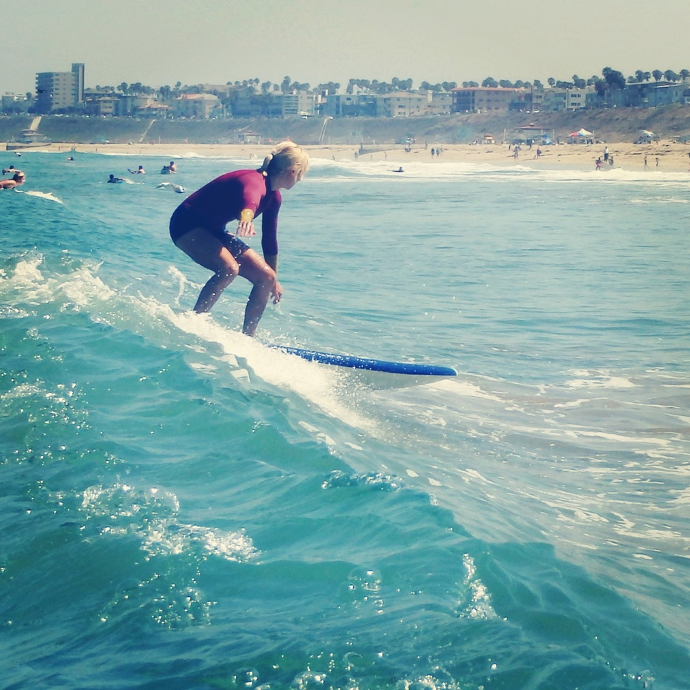 Surf instructor Marisa Love showin' us how it's done. Source: Marisa Love.