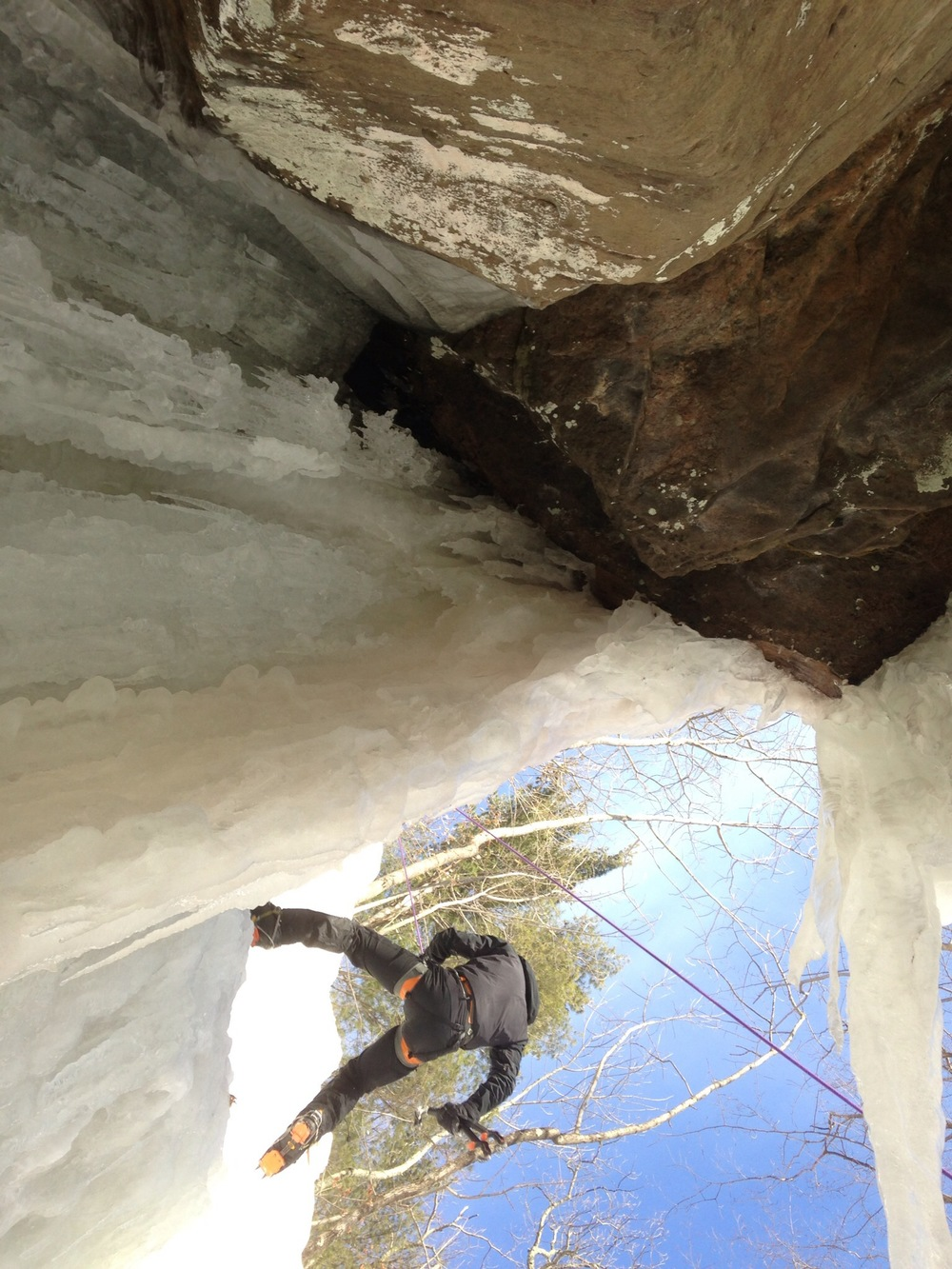 Ice climbing in the Gunks. Source: my instagram.