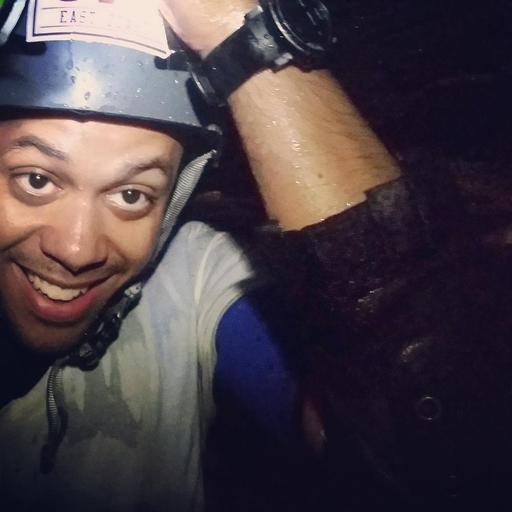 Caving at Falls Cliff.