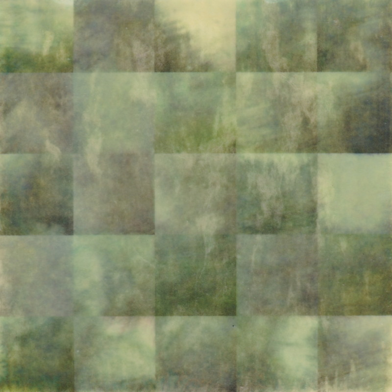 Rain Sketches by Erin Keane : photography with encaustic beeswax : 20 x 20 inches