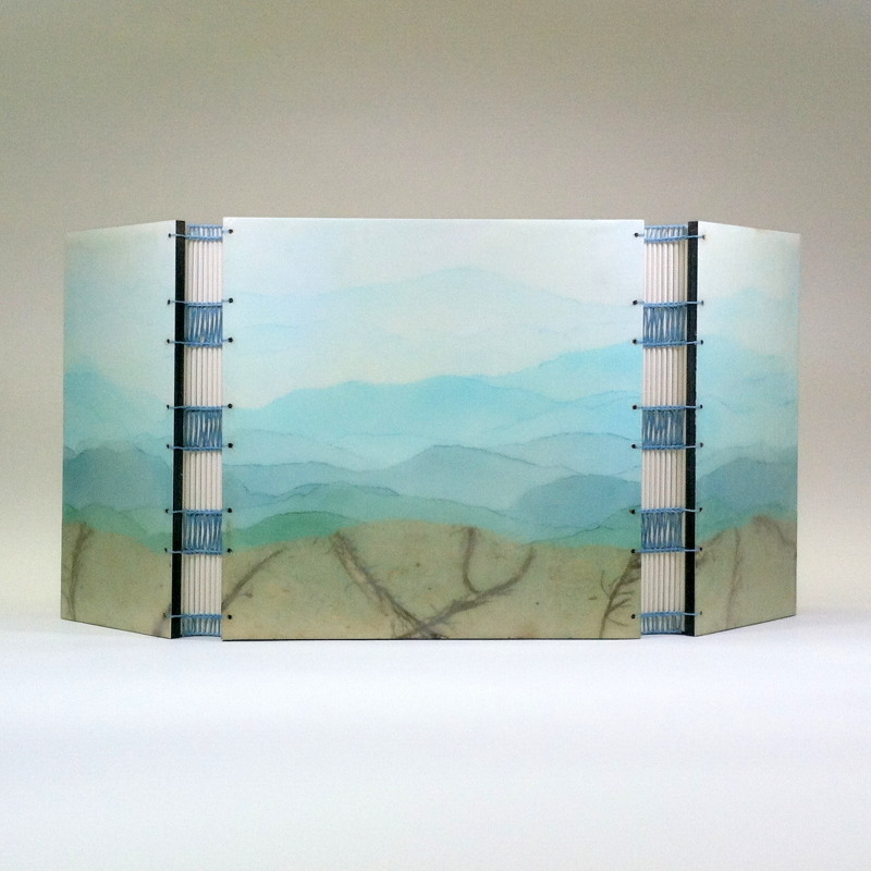 Vista by Erin Keane : Gatefold journal with encaustic beeswax covers