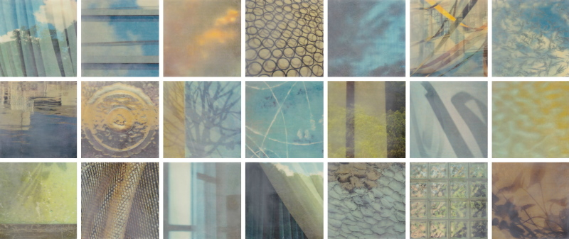 Every Day Luminous by Erin Keane : photography with encaustic beeswax : 24 x 56 inches