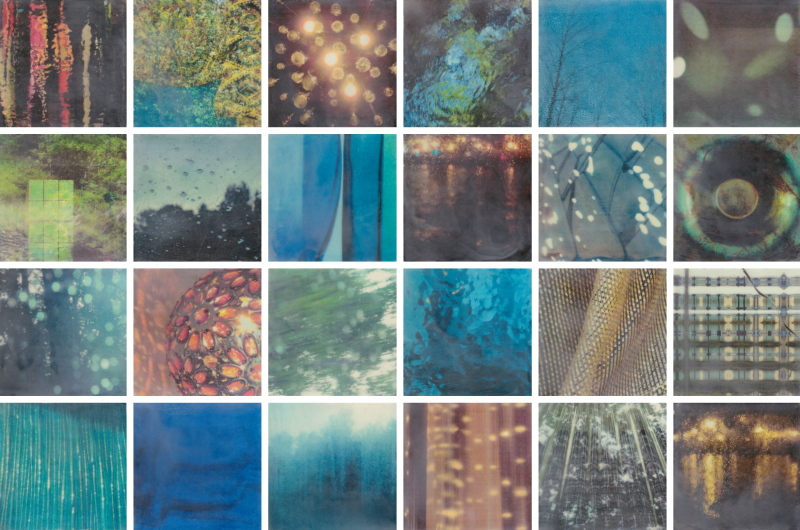 Light is Elastic by Erin Keane : photography with encaustic beeswax : 32 x 48 inches
