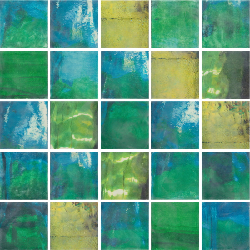 Permission to be Still by Erin Keane : photography with encaustic beeswax : 40 x 40 inches