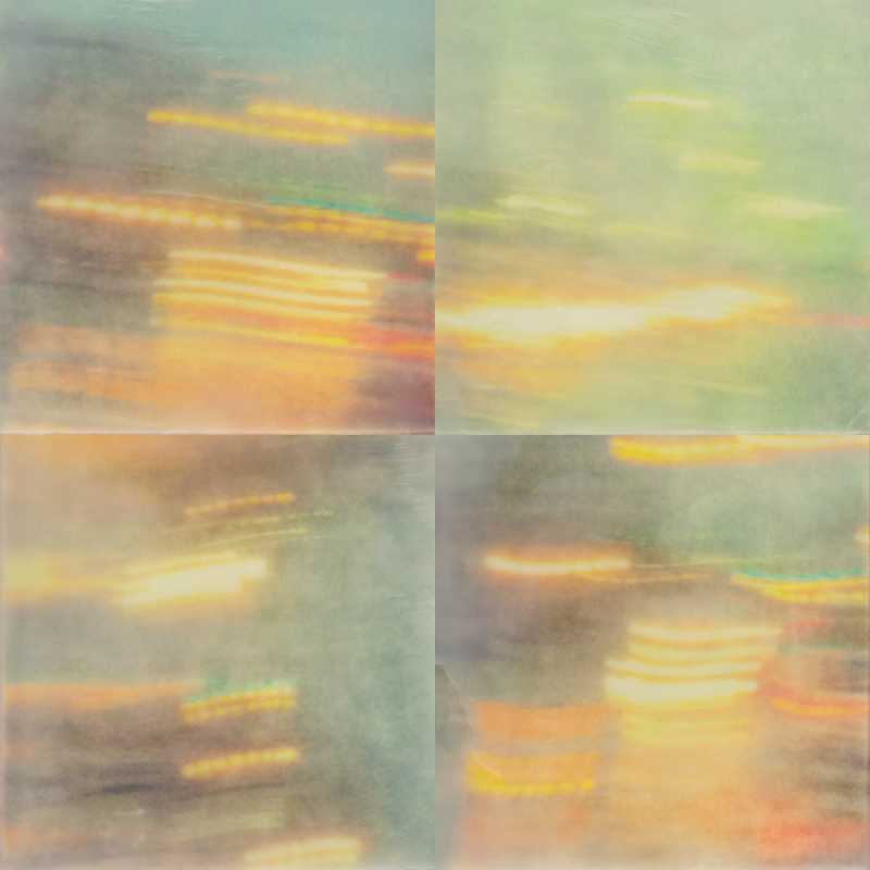 Rain Sketches (II) by Erin Keane : photography with encaustic beeswax : 12 x 12 inches