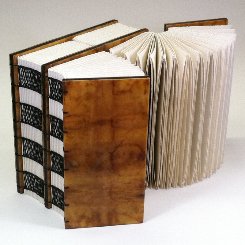 Beginning Now by Erin Keane : Navigating Our Humanity : sculptural book : encaustic beeswax covers