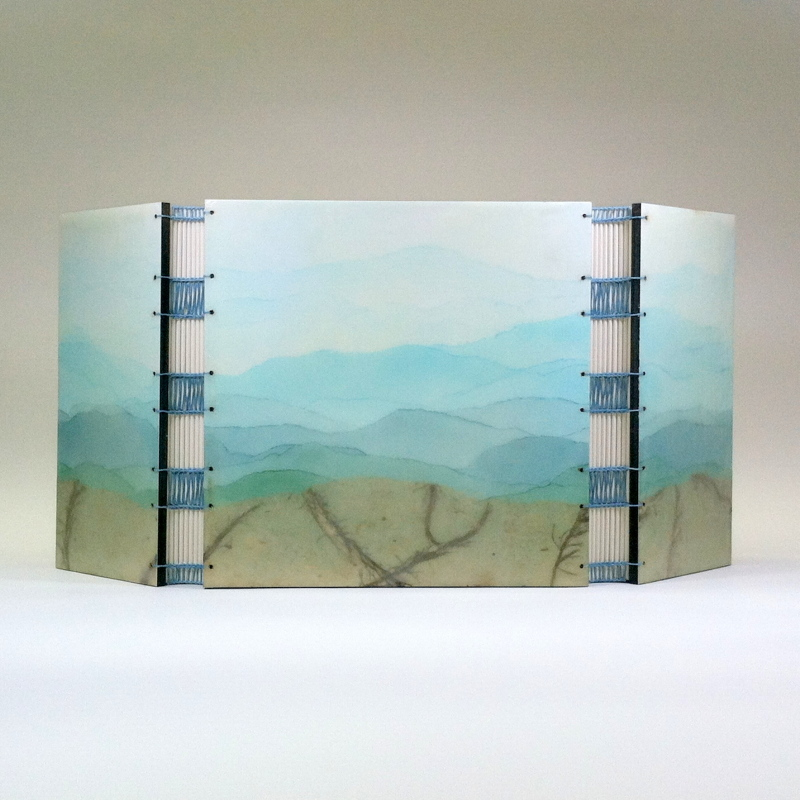 Vista by Erin Keane : gatefold journal : encaustic beeswax covers