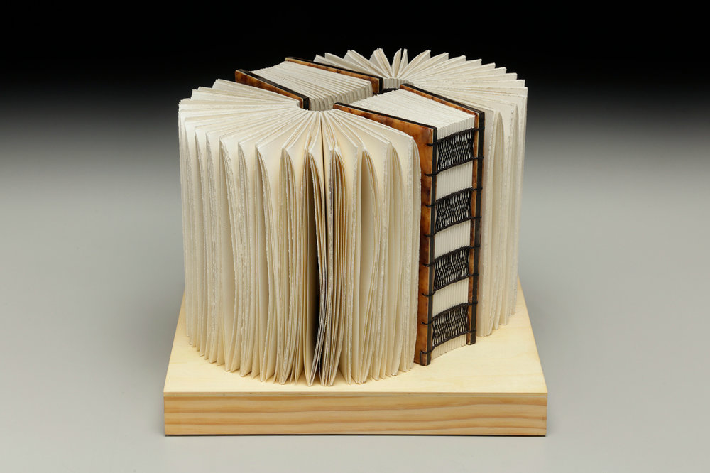 Intervals of Silence by Erin Keane : Navigating Our Humanity : sculptural book : encaustic beeswax covers