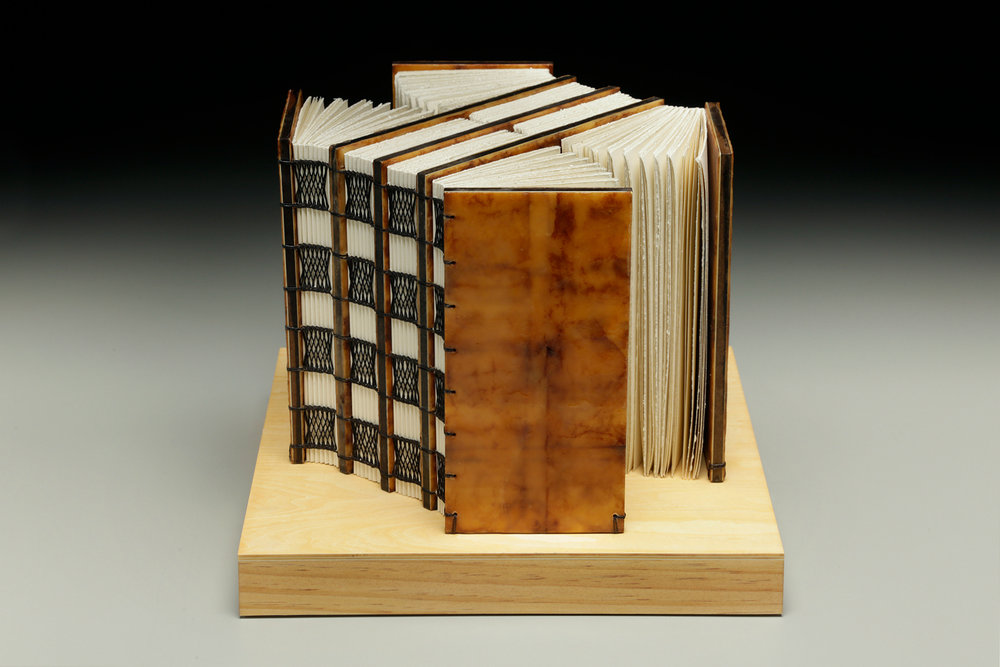 Ever Expanding by Erin Keane : Navigating Our Humanity : sculptural book : encaustic beeswax covers