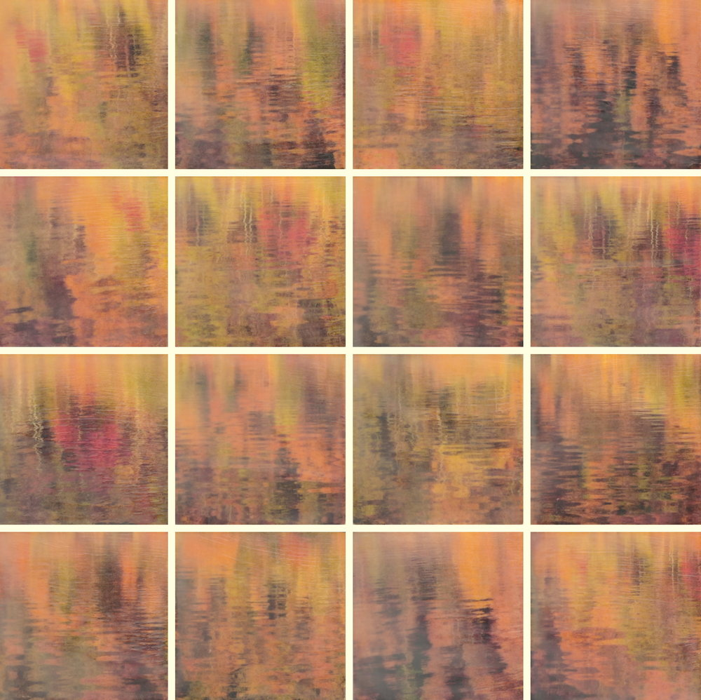 Water Colors by Erin Keane : photography with encaustic beeswax : 24 x 24 inches