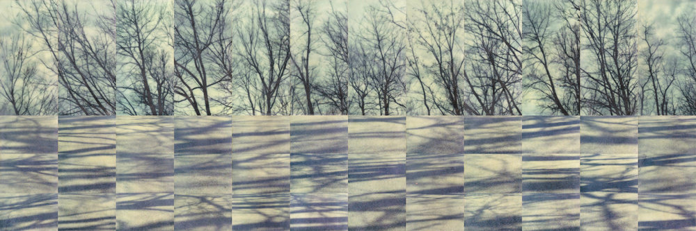 Poetic Passage by Erin Keane : photography with encaustic beeswax : 16 x 48 inches, framed