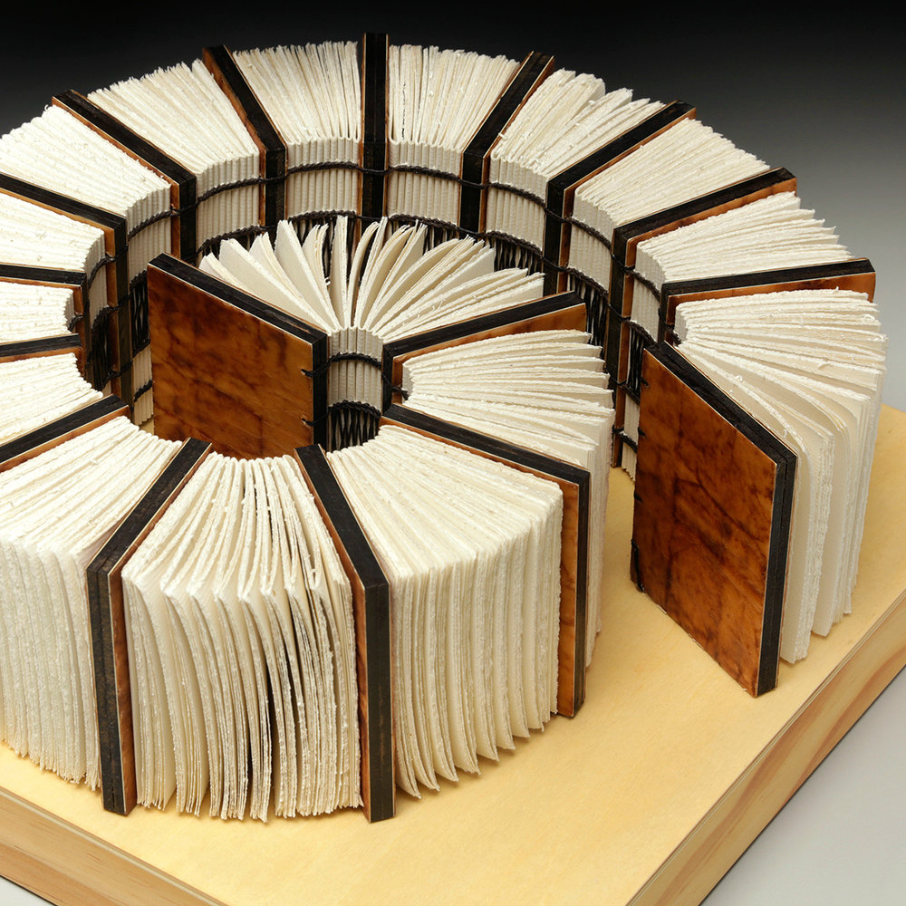 Between Time by Erin Keane : sculptural book : encaustic beeswax covers