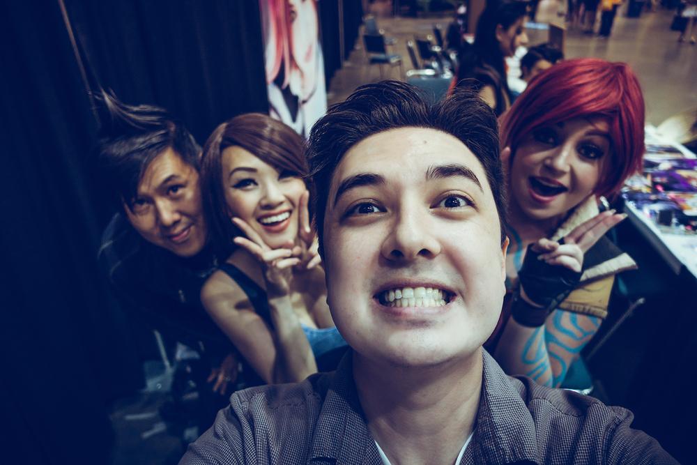 Jessie, Linda, Mel and I