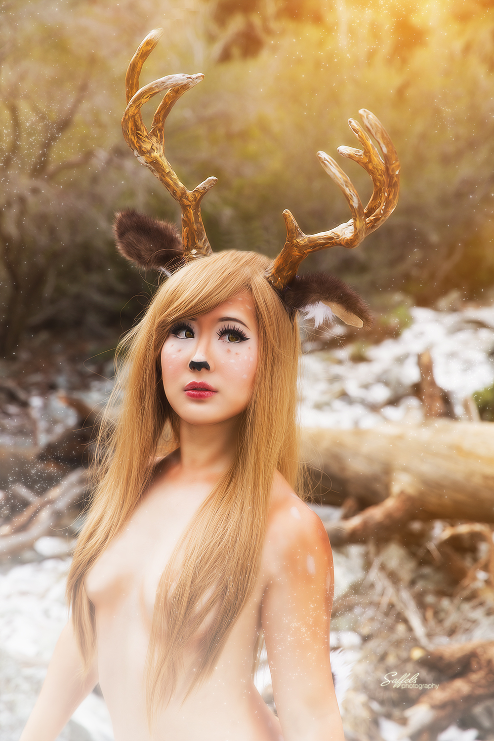 Closer portrait of Fawn Girl-