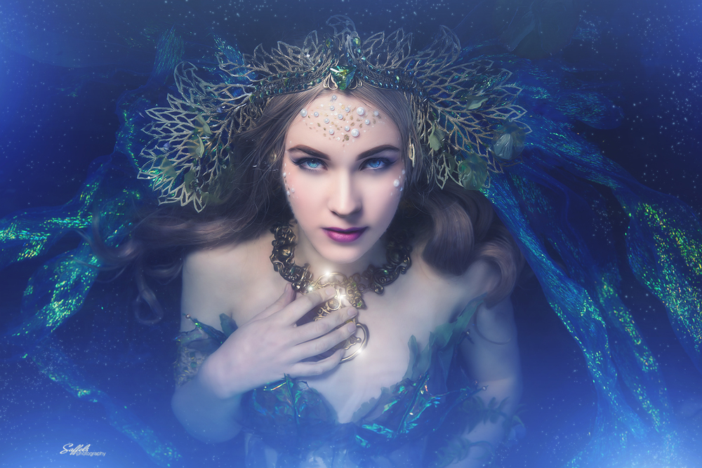 Eve Beauregard as a magical mermaid