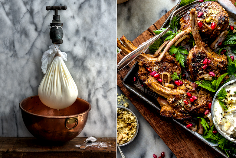 The Food Union - Spiced Lamb Cutlets with Labne, Dukkah and Pome