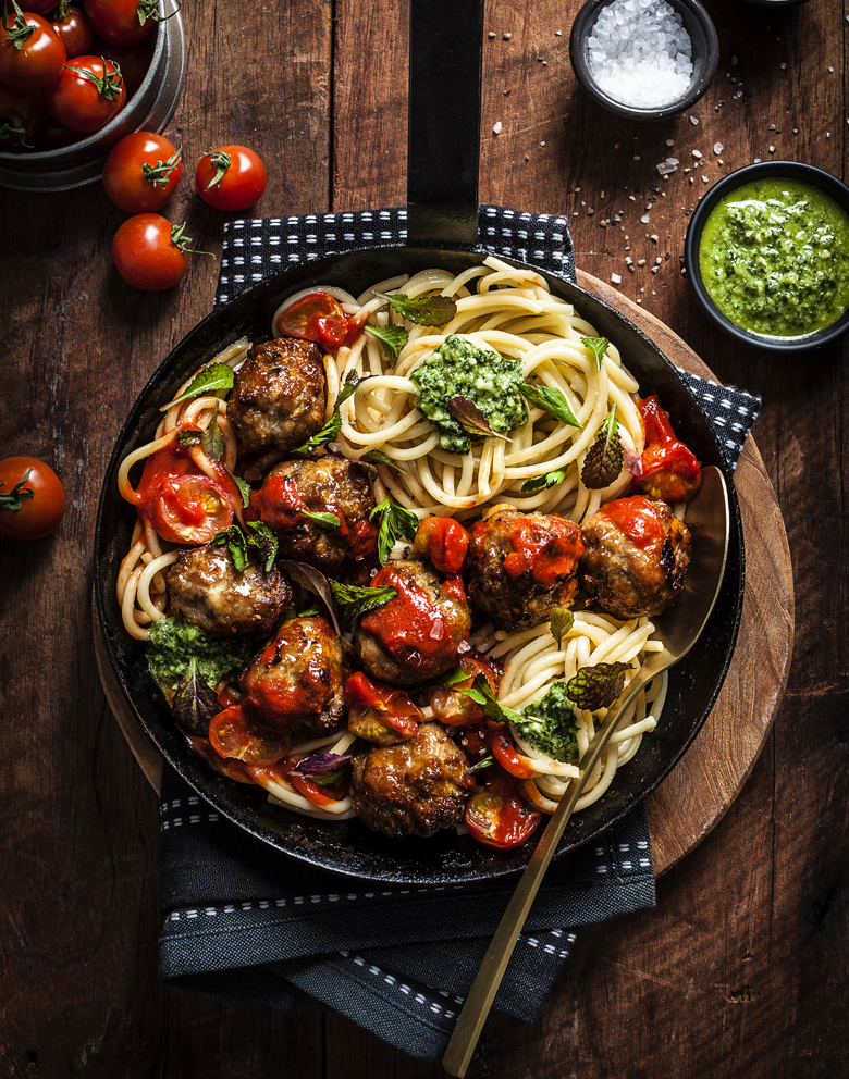 The Food Union - Pork & Fennel Meatballs with Tomato Sugo