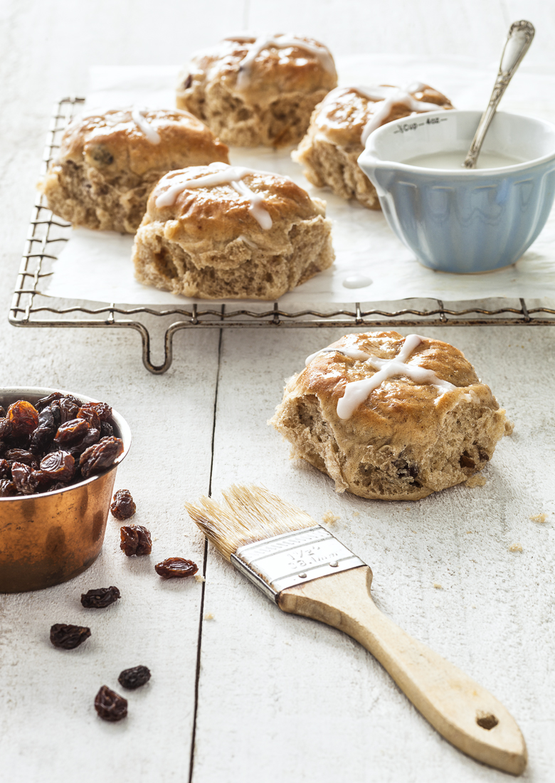 The Food Union - Pecan & Rum Raisin Hot Cross Buns