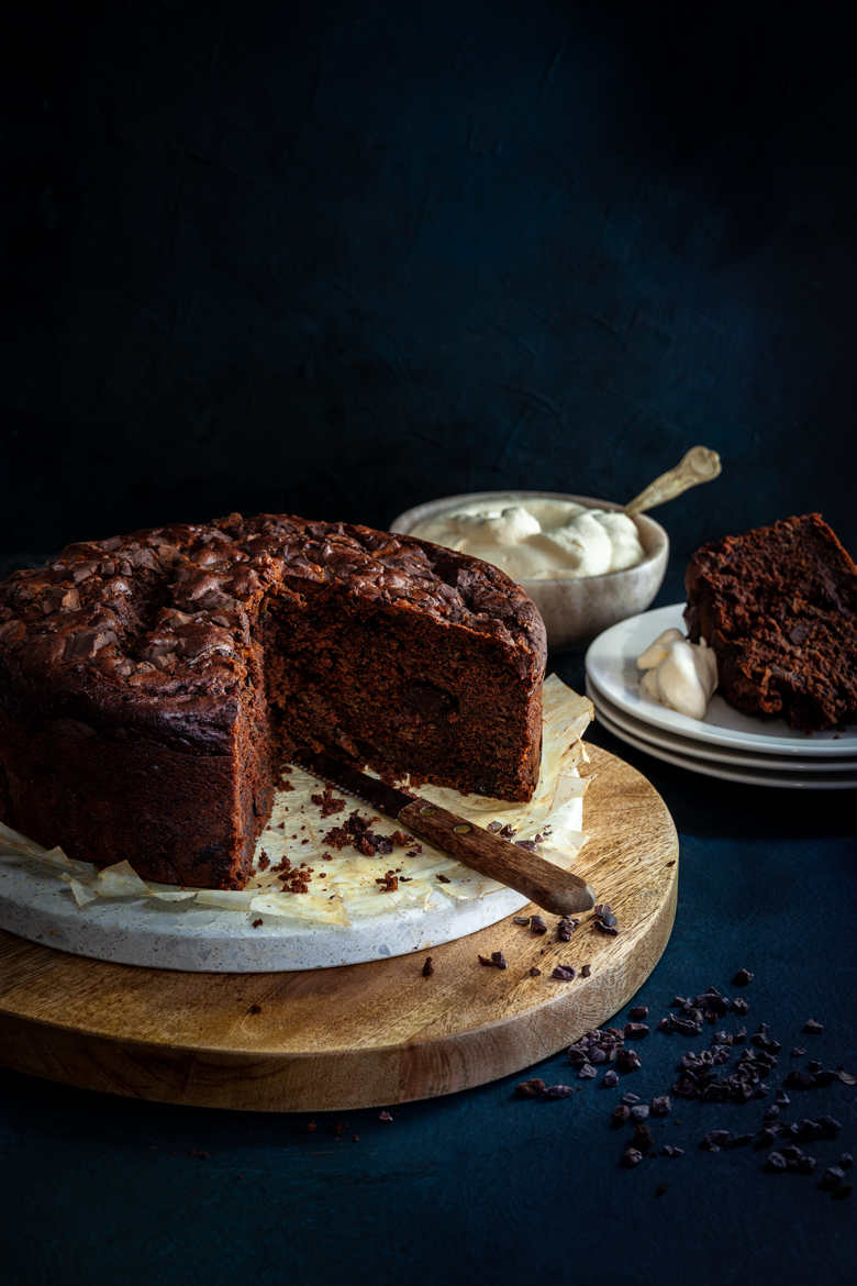MM -  Jan 2019 - Chocolate Courgette & Date Cake