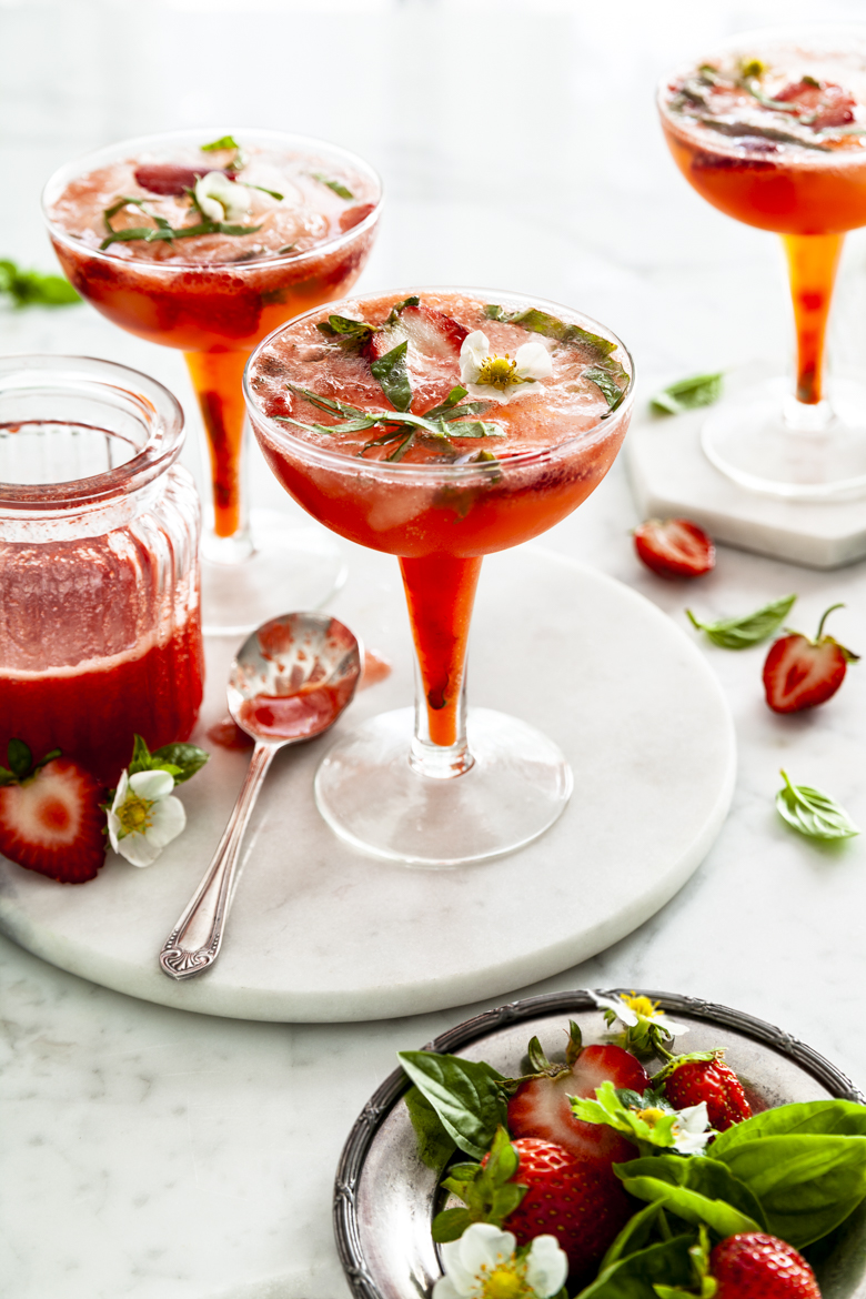 TFU - Valentines Day 2019 - Strawberry Basil & Gin Cocktail