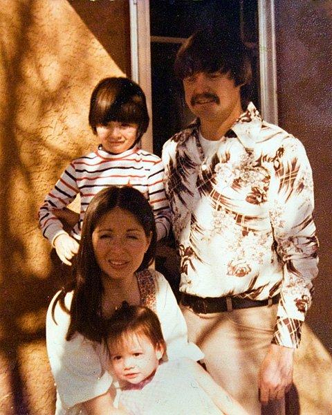 Mom, dad, sis, and I, circa 1978