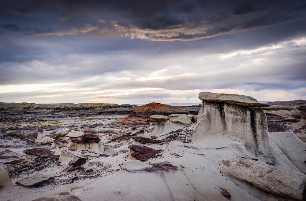 New Mexico has the most beautiful skies in the world, if you ask me.  Bisti has the most amazing colors in the earth on the earth.