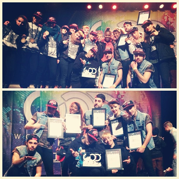 1st place award to Break Da Beat Crew at WOD Belgium