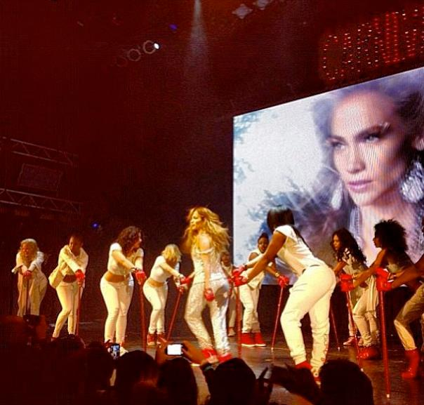 onstage with JLO!