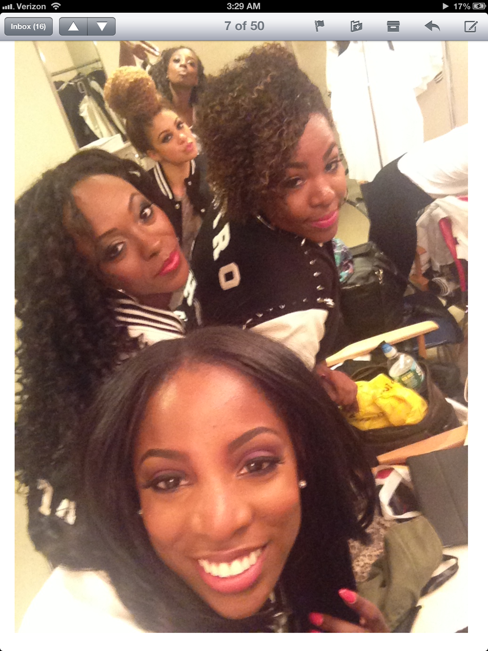backstage with some beautiful ladies at Black Girls Rock!