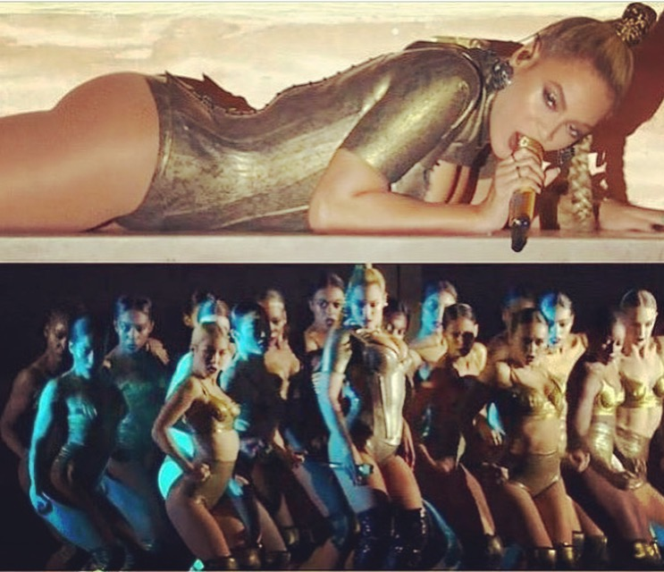 Dancing for Queen B at the VMA's.