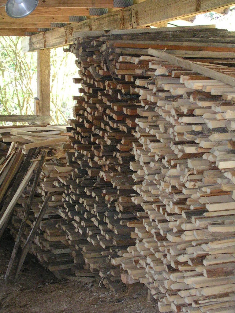 Stacked Kiln Wood