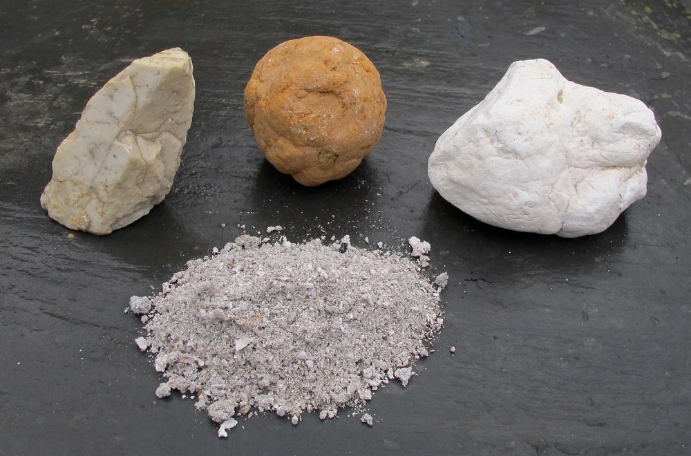 Feldspar Crystal, Red Clay, Kaolin, Wood Ash