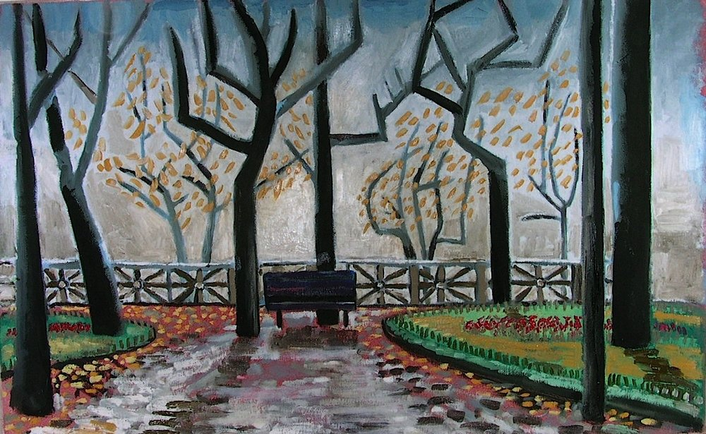 Park Bench, Cortona. SOLD