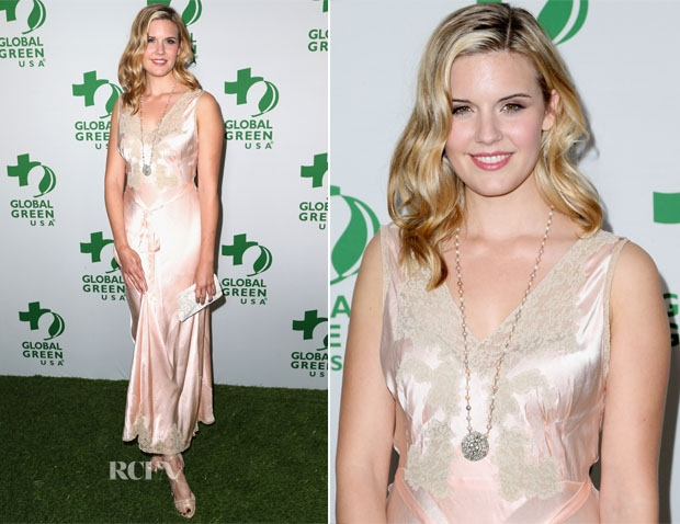 Maggie Grace at the Global Green USA's 11th Annual Pre-Oscar Party