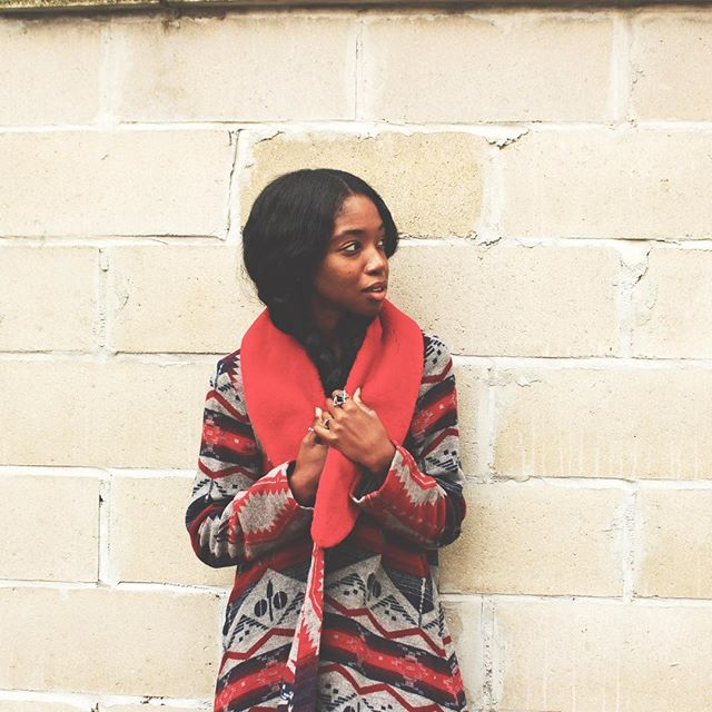 It's cold again 😕  #ootd #furry #nyc #brooklyn #style #fashion #redwoman #prints